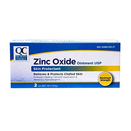 Quality Choice Zinc Oxide Ointment Skin Protectant 2oz Each (2)