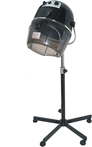 D Salon Portable Professional Hair Dryer Hood 980 Watt Salon Beauty Bonnet Style – Black