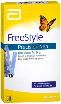 FreeStyle Precision Neo Blood Glucose Test Strips - 50 ct, Pack of 2