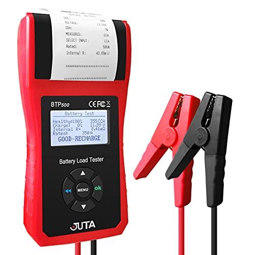 JUTA BTP500 Car Battery Load Tester,12V/24V Cranking Charging System Analyzer with Printer
