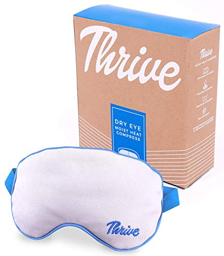 Thrive Eye Mask for Dry Eyes | Cold Eye Ice Pack & for Migraine & Headache Relief | Warm Eye Compress for Stye, Pink Eye, Chalazion Therapy | Hygienic Removable & Washable Cover