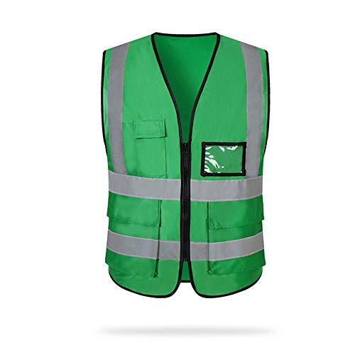 Blusea Vest Reflective Safe Vests with Pockets and Zipper, Construction Work Vest, Men and Women