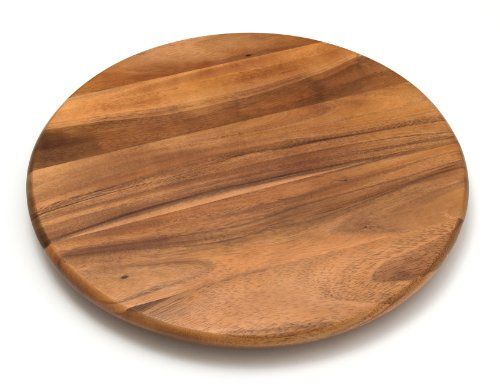 Lipper International Acacia Wood 18' Lazy Susan Kitchen Turntable