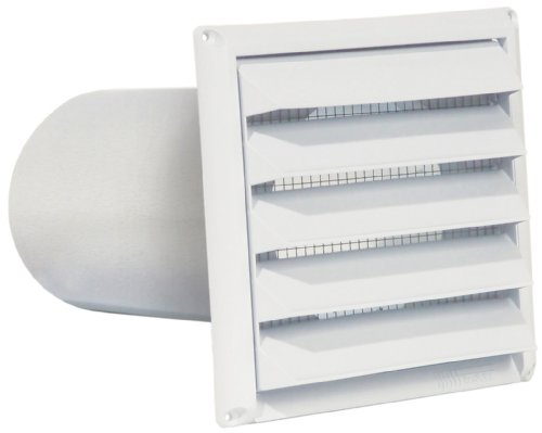 Imperial 6' Premium Intake Hood with Built-In Pest Guard Screen, White, PAT-6W