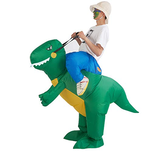 Lulu Home Dinosaur Costume, Halloween Inflatable Dinosaur T-REX Cosplay Costume Adult