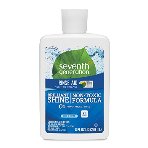 Seventh Generation Rinse Aid, Free & Clear, 8 oz (Pack of 9)