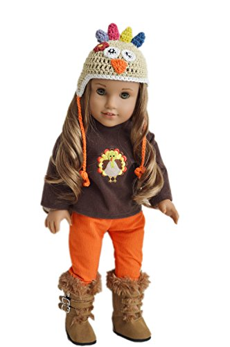 My Brittany's Fall Thanksgiving Outfit for American Girl Dolls with Boots