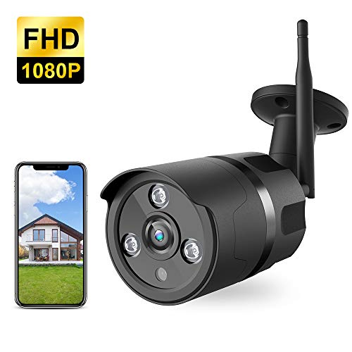 Outdoor Camera - 1080P WiFi Outdoor Security Camera, FHD Night Vision, A.I. Motion Detection, Instant Alert via Phone, 2-Way Audio, Live Video Zooms Function, Cloud Storage/Micro SD Card