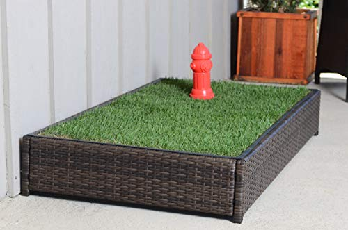 Porch Potty Standard Without Sprinklers, Outer Dimensions 26' x 50' x 7', Grass Area 8 Square Feet (4' x 2')