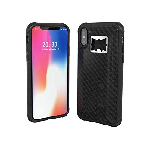 YaMeiDa iPhone 7 8 Cases, iPhone 8 7 Skins Protective Cover, Hidden Locked Cigarette Lighter Backside, with Bottle Opener for Beer- Black (iPhone 8 7)