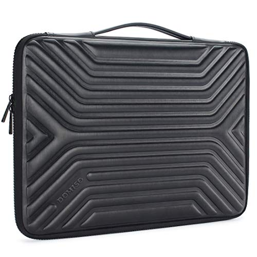 DOMISO 14 Inch Shockproof Waterproof Laptop Sleeve with Handle Lightweight Soft EVA Tablet Case for 14' Laptops/Apple/Lenovo ThinkPad/HP Pavilion 14 Stream 14 / Dell/ASUS, Black