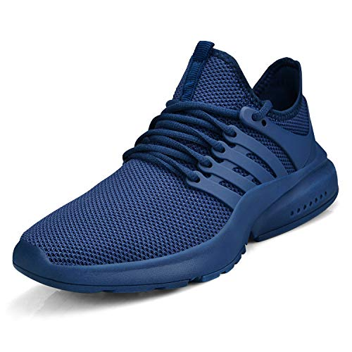 Feetmat Women's Running Shoes Lightweight Non Slip Breathable Mesh Sneakers Sports Athletic Walking Work Shoes Blue 8 M