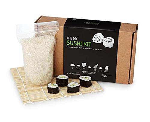 The DIY Sushi Making Kit! Includes All Special Ingredients, Step By Step Instruction and Bamboo Rolling Mat! Create Your Own Fresh Sushi Rolls! Tasty And Delicious Homemade Sushi Japanese Delight!