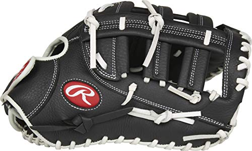 Rawlings Shut Out Series Youth Softball First Base Glove, 13 inch, Single Post Double Bar Web, Right Hand Throw
