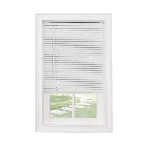 Achim Home Furnishings Cordless Morningstar 1' Light Filtering Mini Blind, Width 36inch, Pearl White
