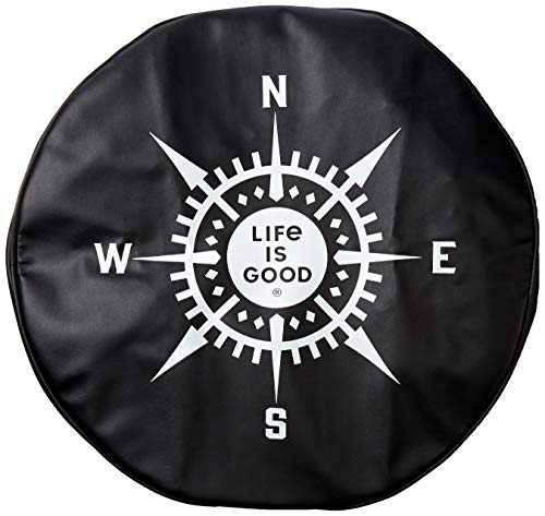 Life is Good Tire Cover, LIG Compass Night Black, 28'