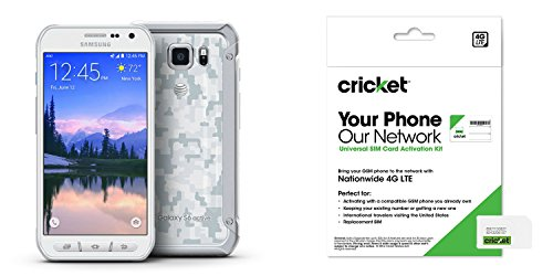Samsung Galaxy S6 Active White Camo Cricket 32GB Runs on At&t 4g LTE Towers