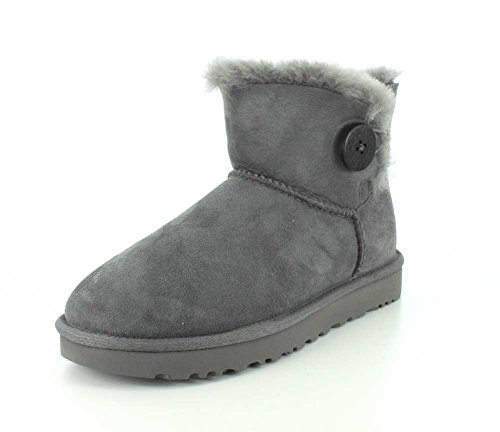 UGG Women's Mini Bailey Button II Boot, Grey, 9