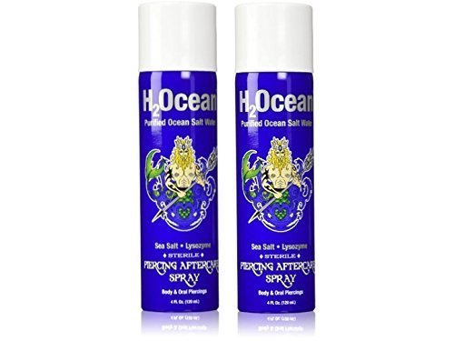 H2Ocean Piercing Aftercare Spray, 4 Ounce Set of 2