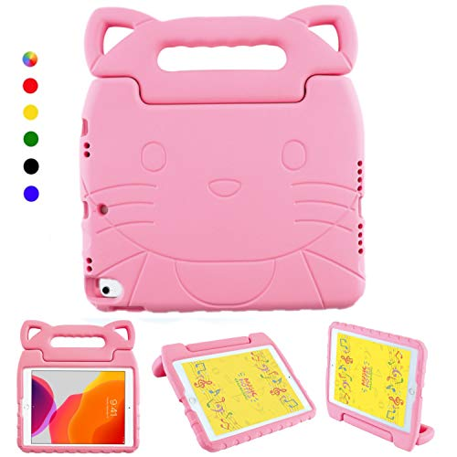 Kids case for iPad Air 4th Generation 10.9' 2020, iPad Pro 11-inch (3rd Generation) 2021 / iPad Pro 11' (2nd Gen 2020 & 1st Gen 2018 ), Shockproof Light Weight Handle Stand Pink case