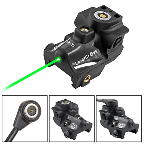 Lasercross Green Laser Sight,Magnetic Charging Laser Gun Sight,Green Dot Tactical Sight Fixed with Standard Picatinny Rail,Mini Sized Gun Sight Laser for Most of Pistols and Gun Optics