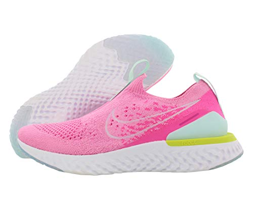 Nike Women's Epic Phantom React Flyknit Running Shoes (8.5, Pink/White)