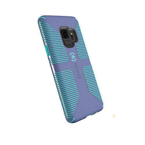 Speck Products Compatible Phone Case for Samsung Galaxy S9, Candyshell Grip Case, Wisteria Purple/Mykonos Blue