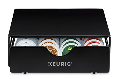 Keurig Slim Non-Rolling Storage Drawer, Coffee Pod Storage, Holds up to 24 Keurig K-Cup Pods, Black