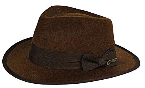Rubie's Costume Child's Indiana Jones Fedora Hat, Brown, One Size