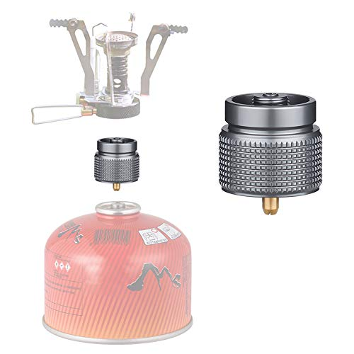 Hivexagon Camping Gas Stove Adapter 1L Small Tank Input EN417 Lindal Valve Output - Gas Tank Adapter, LPG Adapter for Outdoor Camping