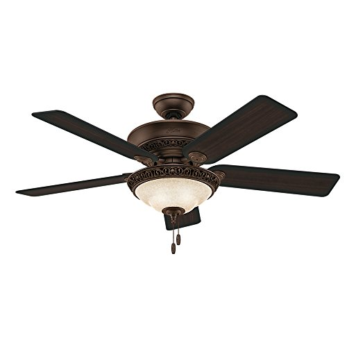 Hunter Italian Countryside Indoor Ceiling Fan with LED Lights and Pull Chain Control