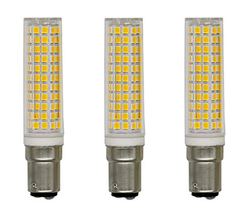 JKLcom BA15D LED Bulb Dimmable 10W(Equivalent to 100W Halogen Lamp Replacement)BA15D Base LED Corn Light Bulbs for Chandelier Indoor Decorative Lighting,136 LED 2835 SMD,Dimmable,Warm White,3 Pack