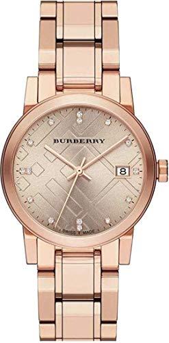 Swiss Rare Diamonds Rose Gold Date Dial 34mm Women Wrist Watch The City BU9126