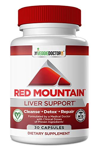 Red Mountain Liver Detox with Milk Thistle & Dandelion Root - Liver Cleanse Detox Repair & Daily Support Supplement - Doctor Formulated Detoxifier & Regenerator, Vegan 30 Capsules
