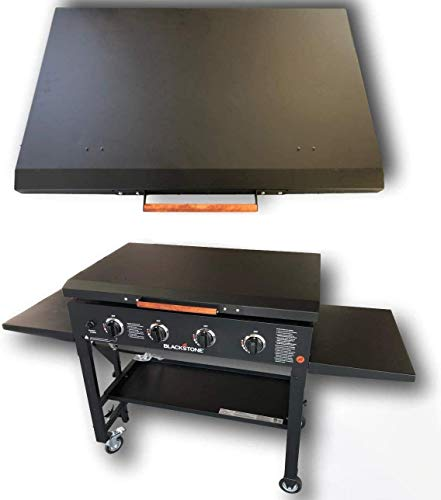 36' Black Stone Griddle Cover Lid, Powder Coated Black Aluminum Lid Storage Cover for 36 inch Black Stone Griddles - Made in USA