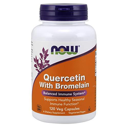 NOW Supplements, Quercetin with Bromelain, Balanced Immune System, 120 Veg Capsules
