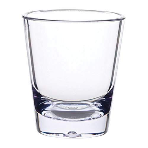 Carlisle 560107 Alibi Heavy-Weight Plastic Shot Glass, 1.5 oz (Case of 24)