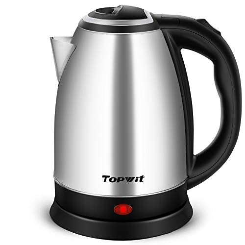 Topwit Electric Kettle Hot Water Kettle, Upgraded, 2 Liter Stainless Steel Coffee Kettle & Tea Pot, Water Warmer Cordless with Fast Boil, Auto Shut-Off & Boil Dry Protection