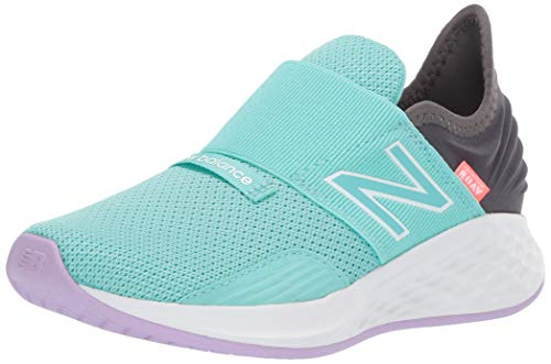 New Balance Kid's PDROVV1 Alternative Closure Running Shoe, Light Tidepool/Magnet, 12.5 M US Little Kid
