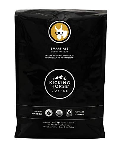 Kicking Horse Coffee, Smart Ass, Medium Roast, Whole Bean, 2.2 Pound - Certified Organic, Fairtrade, Kosher Coffee