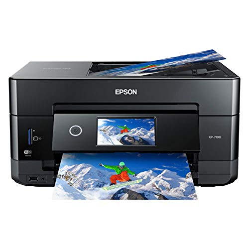 Epson Expression Premium XP-7100 Wireless Color Photo Printer with ADF, Scanner and Copier, Black