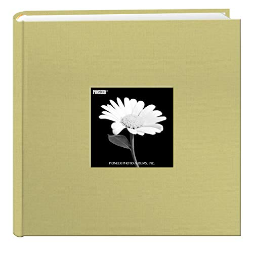 Fabric Frame Cover Photo Album 200 Pockets Hold 4x6 Photos, Soft Yellow