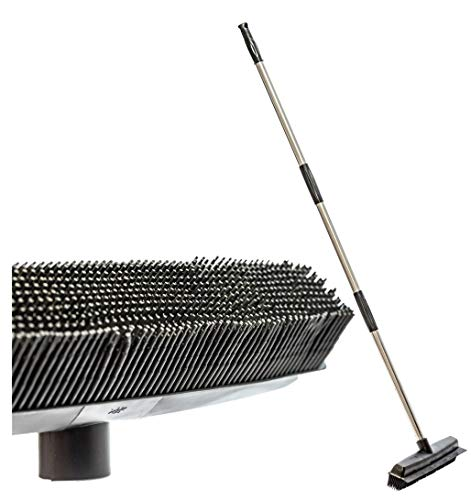 Pet Hair Rubber Broom Floor Brush for Carpet Dog Hair Remover Silicone Broom Suitable for All Surface with Built in Squeegee