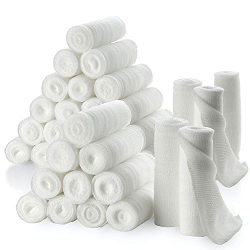 """Gauze Bandage Rolls - Pack of 36, 3"""" x 4.1 Yards Per Roll of Medical Grade Gauze Bandage and Stretch Bandage Wrapping for Dressing All Types of Wounds and First Aid Kit by MEDca"""