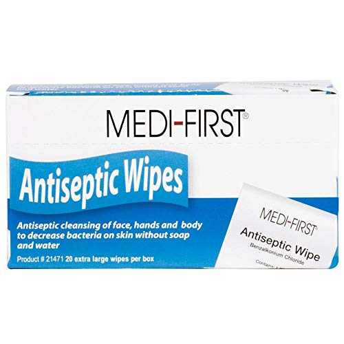 Antiseptic First Aid Wipes 20/Box