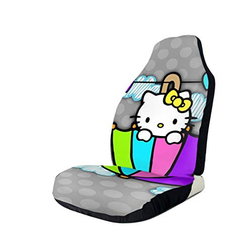 Cute Hello Kitty Car Seat Cover Universal Vehicle Seat Decorative Protector Fits Most Cars Trucks Vans SUV Front Seats