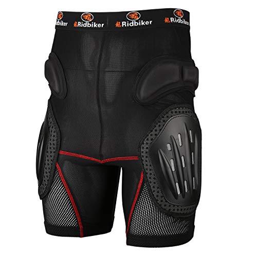 RIDBIKER Aluminum Alloy Armor Pants Skating Protective Snowboarding Mountain Bike Cycling Motocross Skiing Protect Shorts,L
