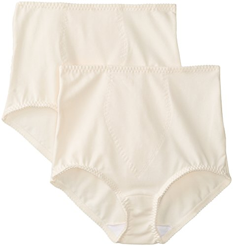 Bali Women's Smoothers Shapewear 2 Pack Cotton Brief with Light Control, Porcelain, Medium