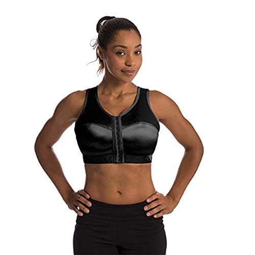 Enell Women's High Impact Sports Bra, Black, 7
