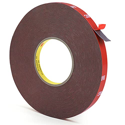Heavy Duty Foam Mounting Tape, Hitlights 100 Feet 0.4Inch Width Strong Adhesive Waterproof Removable Mounting Tape for LED Strip Lights, Home Decor, Office Décor, Made of 3M Tape